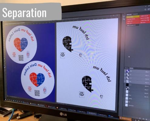 Grafik: Separation der Druckfarben
