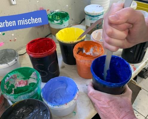 Mischen individueller Druckfarben